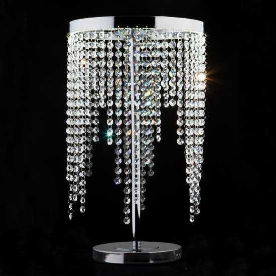 Фото №2 Светодиодная настольная лампа с хрусталем 80412/1 хром
