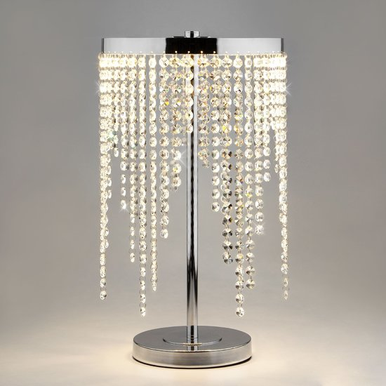 Фото №3 Светодиодная настольная лампа с хрусталем 80412/1 хром
