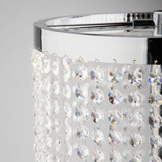 Фото №5 Светодиодная настольная лампа с хрусталем 80412/1 хром