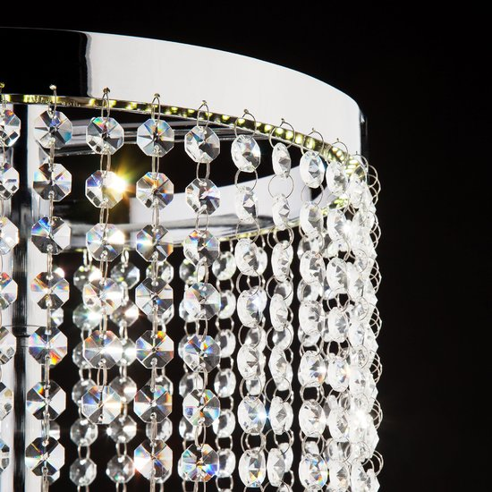 Фото №6 Светодиодная настольная лампа с хрусталем 80412/1 хром