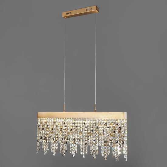 Светодиодный подвесной светильник с хрусталем 90110/1 медный фото