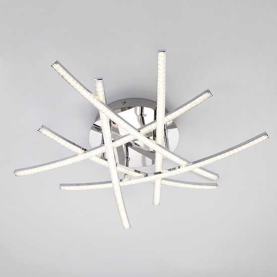 Светодиодный потолочный светильник 90107/6 хром фото