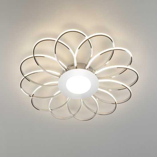 Светодиодный потолочный светильник 90105/13 хром фото