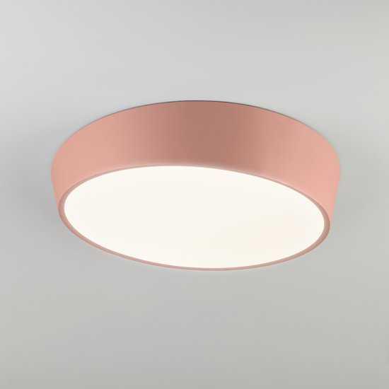 Светодиодный потолочный светильник 90113/1 розовый фото