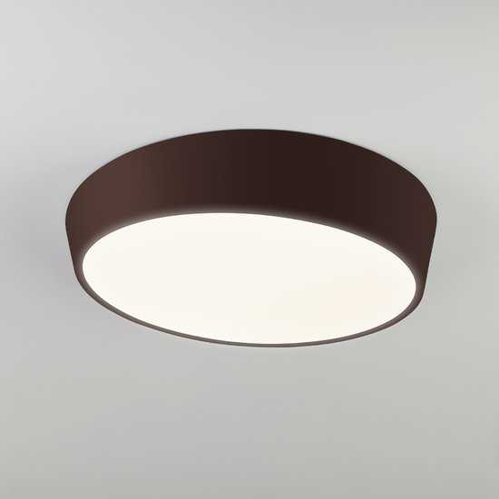 Фото №2 Светодиодный потолочный светильник 90113/1 коричневый