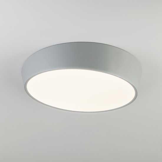 Светодиодный потолочный светильник 90113/1 серый фото