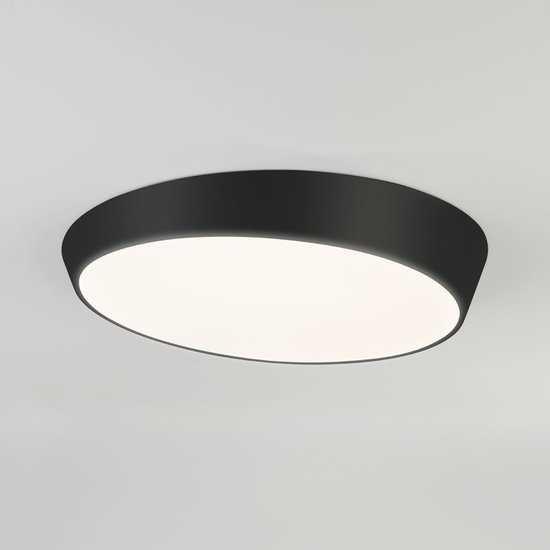 Светодиодный потолочный светильник 90114/1 черный фото
