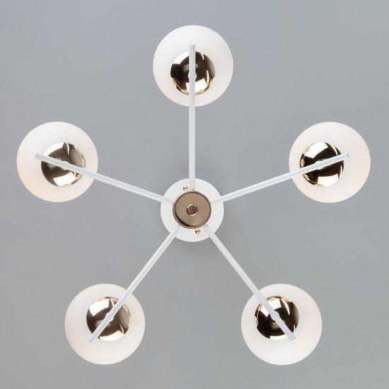Фото №5 Потолочная люстра со стеклянными плафонами 70092/5 белый