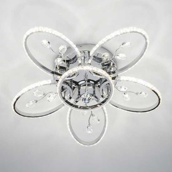 Светодиодный потолочный светильник 90097/6 хром фото