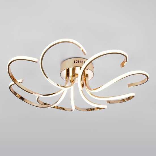 Светодиодный потолочный светильник 90096/8 золото фото
