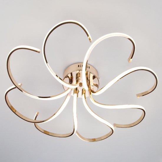Фото №3 Светодиодный потолочный светильник 90096/8 золото
