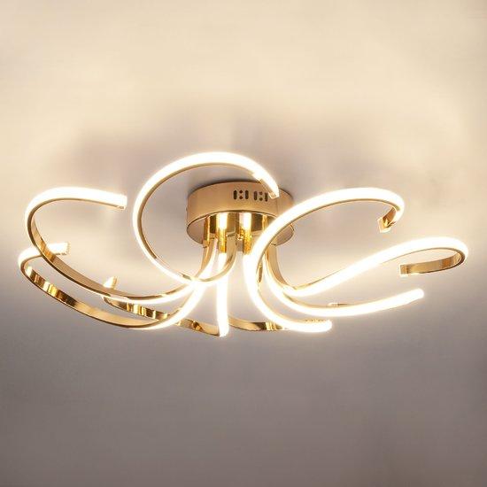 Фото №4 Светодиодный потолочный светильник 90096/8 золото