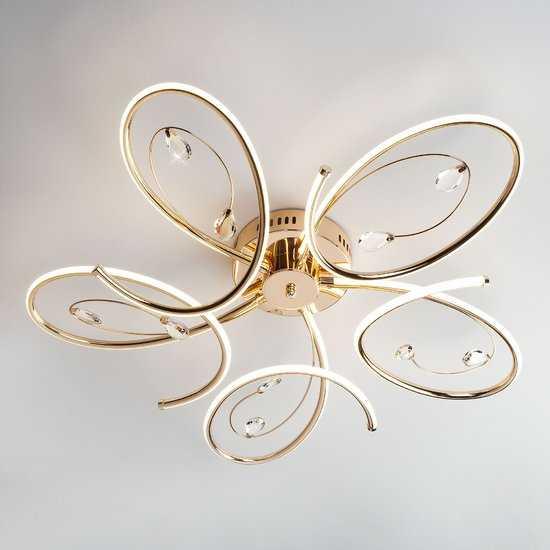 Светодиодный потолочный светильник 90099/5 золото фото