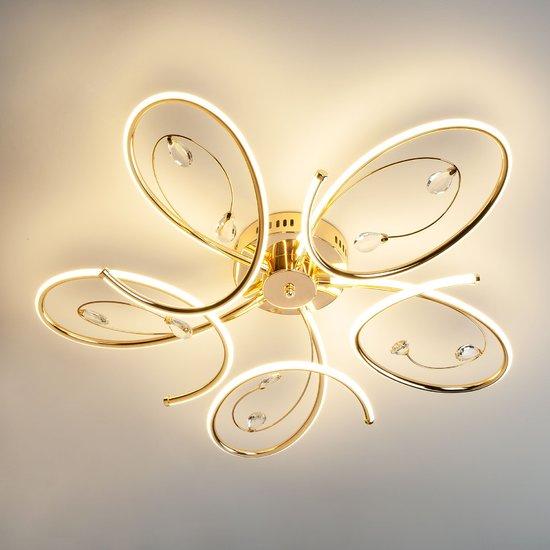 Фото №3 Светодиодный потолочный светильник 90099/5 золото