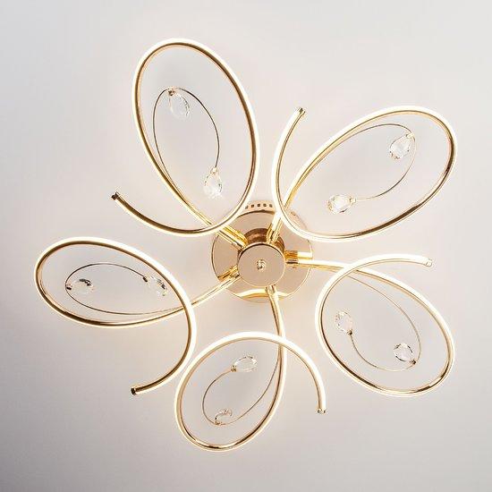 Фото №4 Светодиодный потолочный светильник 90099/5 золото