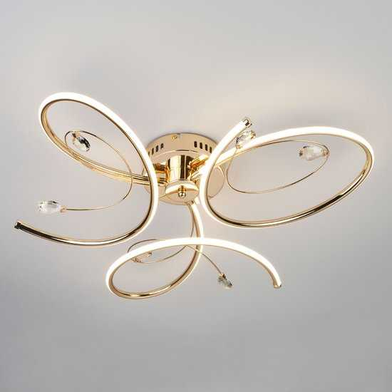 Светодиодный потолочный светильник 90099/3 золото фото