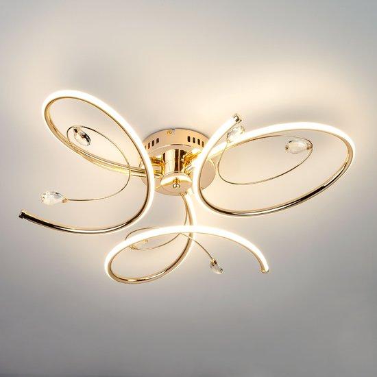 Фото №3 Светодиодный потолочный светильник 90099/3 золото