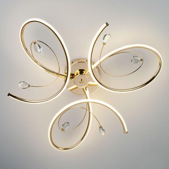Фото №4 Светодиодный потолочный светильник 90099/3 золото