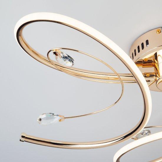 Фото №5 Светодиодный потолочный светильник 90099/3 золото
