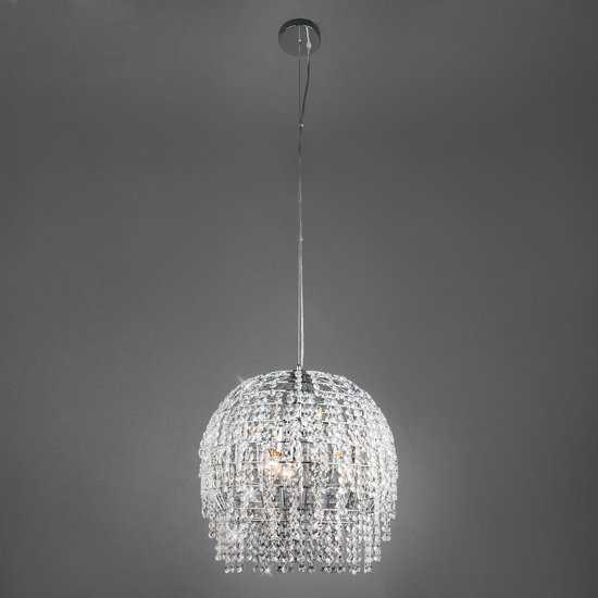 Фото №2 Подвесной светильник с хрусталем 10091/3 хром/прозрачный хрусталь Strotskis