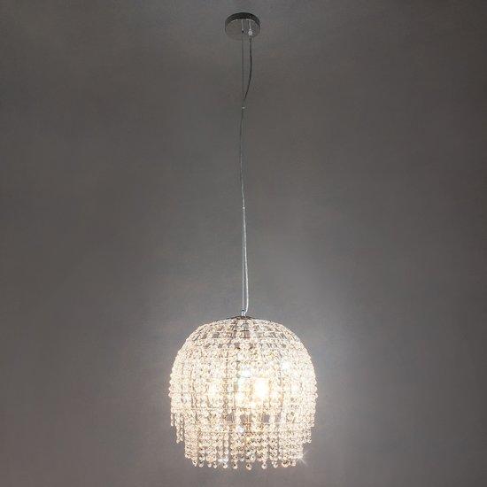 Фото №3 Подвесной светильник с хрусталем 10091/3 хром/прозрачный хрусталь Strotskis