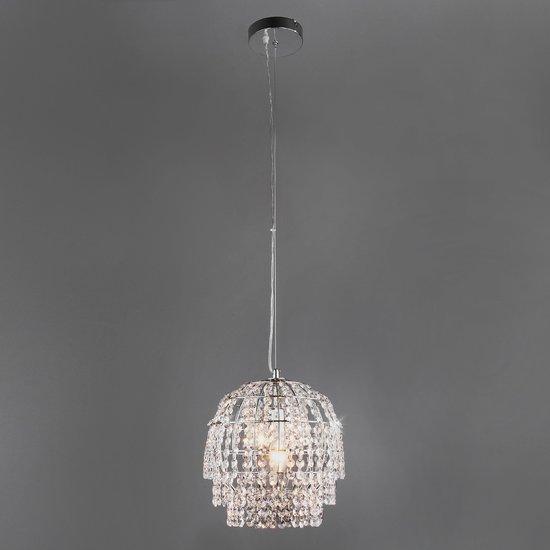 Фото №4 Подвесной светильник с хрусталем 10091/1 хром/прозрачный хрусталь Strotskis