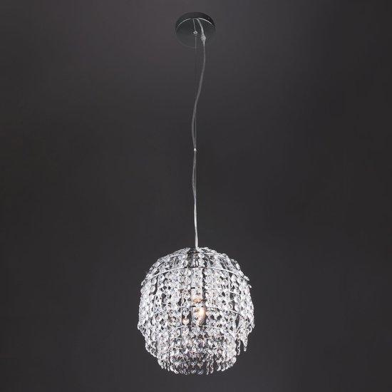 Фото №5 Подвесной светильник с хрусталем 10091/1 хром/прозрачный хрусталь Strotskis