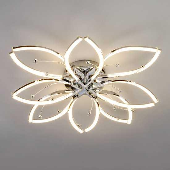 Светодиодный потолочный светильник 90092/8 хром фото