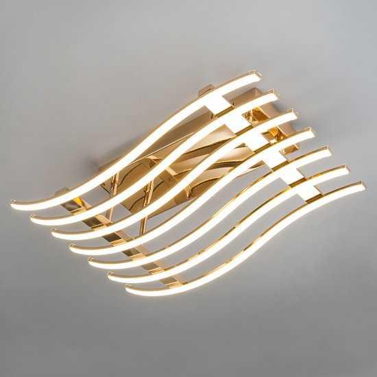 Светодиодный потолочный светильник 90091/7 золото фото