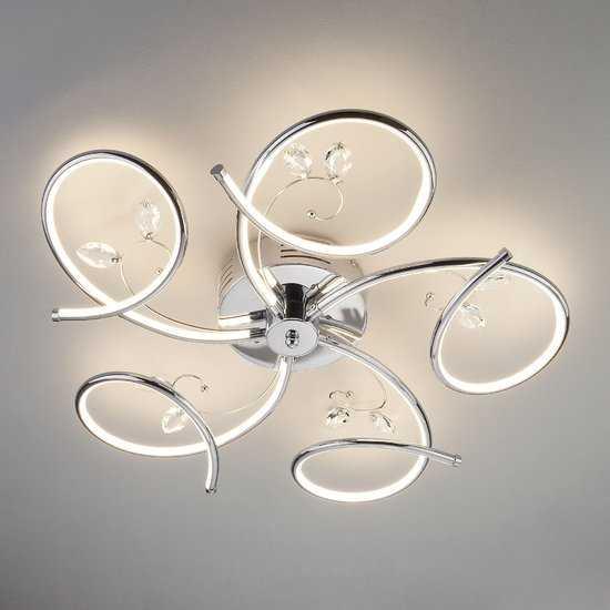 Светодиодный потолочный светильник 90089/5 хром фото