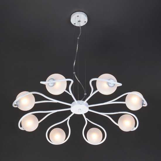 Подвесной светильник 70089/8 белый с серебром фото