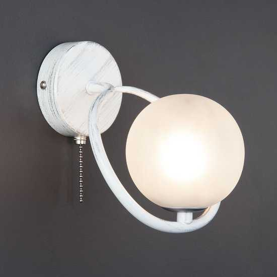 Настенный светильник 70089/1 белый с серебром фото