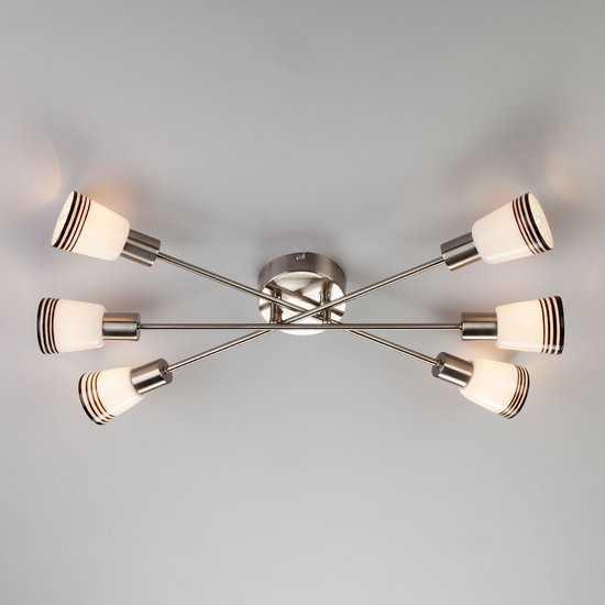 Фото №2 Потолочный светильник 30132/6 сатин-никель