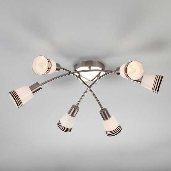 Фото №2 Потолочный светильник 30131/6 сатин-никель