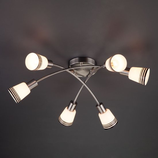 Фото №3 Потолочный светильник 30131/6 сатин-никель