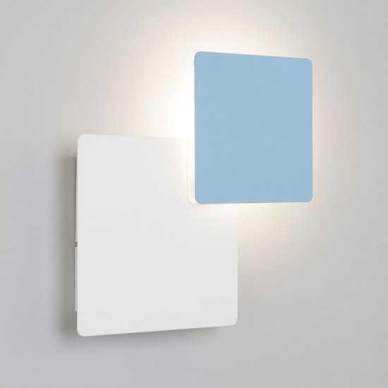 Фото №2 Светодиодный настенный светильник 40136/1 белый/голубой
