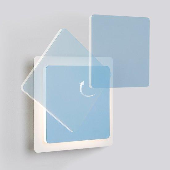 Фото №3 Светодиодный настенный светильник 40136/1 белый/голубой