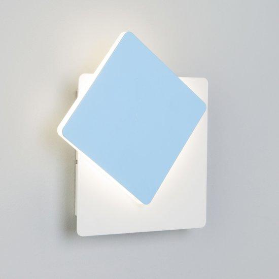Фото №4 Светодиодный настенный светильник 40136/1 белый/голубой