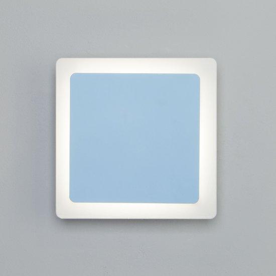Фото №6 Светодиодный настенный светильник 40136/1 белый/голубой