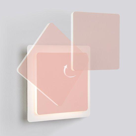 Фото №3 Светодиодный настенный светильник 40136/1 белый/розовый