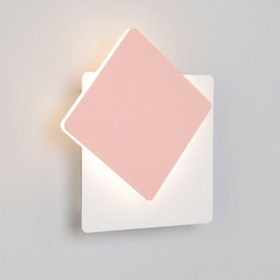 Фото №4 Светодиодный настенный светильник 40136/1 белый/розовый