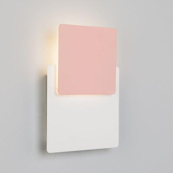 Фото №5 Светодиодный настенный светильник 40136/1 белый/розовый