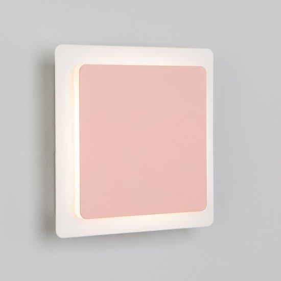 Фото №6 Светодиодный настенный светильник 40136/1 белый/розовый