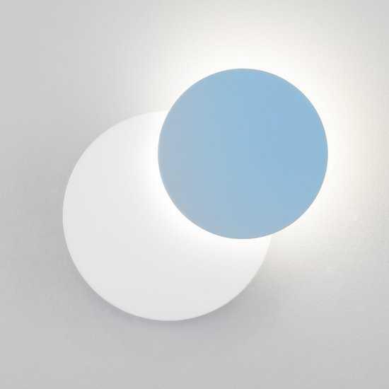 Светодиодный настенный светильник 40135/1 белый/голубой фото