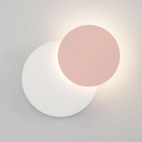 Светодиодный настенный светильник 40135/1 белый/розовый фото