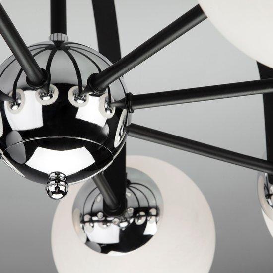Фото №7 Потолочная люстра в стиле лофт 70082/8 хром/черный