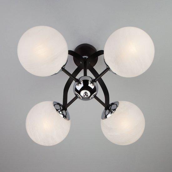 Фото №5 Потолочная люстра в стиле лофт 70082/4 хром/черный