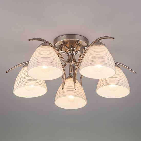 Потолочный светильник 30121/5 сатин-никель фото