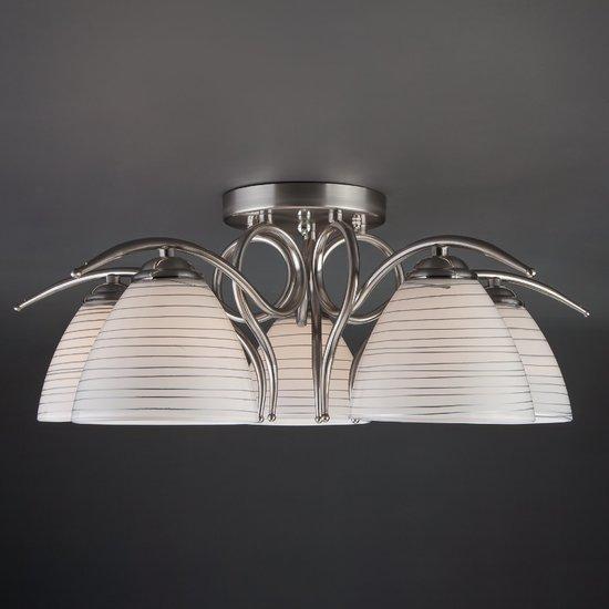 Фото №4 Потолочный светильник 30121/5 сатин-никель