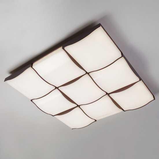 Светодиодный потолочный светильник 90031/9 / потолочный светильник кофе фото